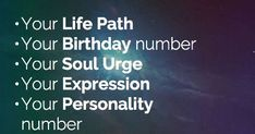 Numerology Personal Year Tool