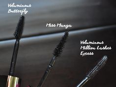 L'Oreal Voluminous Million Lashes Excess Comparison to Voluminous Butterfly and Miss Manga Mascara