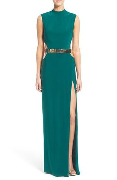 Mac Duggal Belted Side Cutout Gown available at #Nordstrom