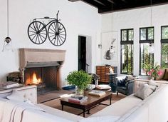 15 Practical and Unobtrusive Ideas to Park Your Bike Indoors - http://freshome.com/2011/07/28/15-practical-and-unobtrusive-ideas-to-park-your-bike-indoors/