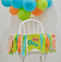 Your place to buy and sell all things handmade 1st Birthday Message, First Birthday Banners, First Birthday Cakes, 1st Boy Birthday, Monster First Birthday, Monster 1st Birthdays, Monster Birthday Parties, First Birthdays, Balloon Garland