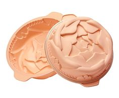 Set de 2 moldes de silicona para tartas Rose III