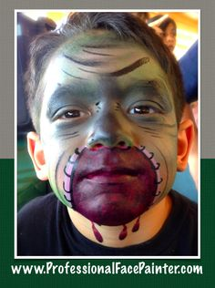 Gross, creepy and exactly what he wanted his face painted as.  Another happy customer. :)   #ProfessionalFacePainter #Newport #OrangeCounty #SoCal