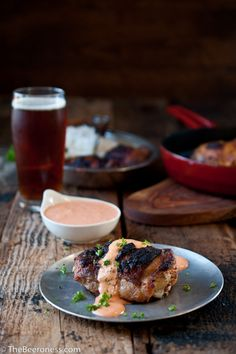 Beer Brined Paprika Chicken with IPA Roasted Red Pepper Cream Sauce + Giveaway