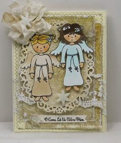 Created by Starr Timmons using  Emma, Abigail & Christmas Blessings stamp sets from www.papersweeties.com