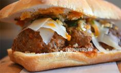 Awesome meatball sandwich from Meat & Bread Food Pics, Food Pictures, Meatball, Food Items, Cheesesteak, Vancouver, Restaurants, Sandwiches, Tasty