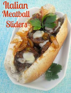 Juicy delicious Meatball sliders with melted Mozzarella topping