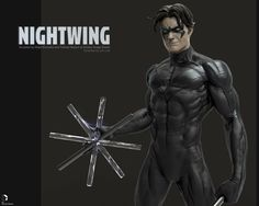 Nightwing by Smiley Image for  DC Collectible , Majid Smiley (Esmaeili) on ArtStation at https://www.artstation.com/artwork/xLQ0W