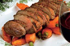 Kacsamell karamelles répával - Vidék Íze Pork, Meat, Pork Roulade, Pigs, Pork Chops