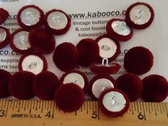 Crushed Velvet 45L//28mm Natural Upholstery Fabric Covered Buttons Craft Sewing