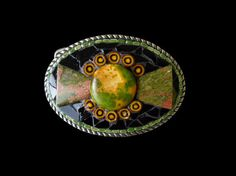 Shoply.com -Unikite and Millefiori Abstract Mosaic Belt Buckle. Only $100.00