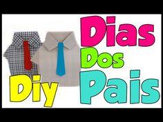 Especial para o dia dos Pais caixa camisa com gravata passo a passo