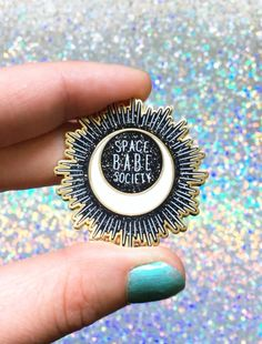 SPACE BABE SOCIETY hard enamel pin with rubber backing by astropuke on Etsy https://www.etsy.com/ca/listing/547294095/space-babe-society-hard-enamel-pin-with