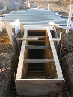 Root Cellar/Storm Shelter~Brain fart...should put this under the potting shed BEFORE I build it? lol