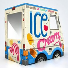 OTO Ice Cream Truck is a big cardboard food truck playhouse for kids. Cardboard Car, Cardboard Playhouse, Cardboard Crafts, Best Birthday Gifts, 7th Birthday, Birthday Ideas, Birthday Parties, Ice Cream Party, Best Christmas Gifts