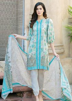 Buy Five Star Classic Lawn 2019 Collection Printed Lawn Unstitched 3 Piece Suit from Sanaulla Store - Original Products. Stylish Dresses For Girls, Stylish Dress Designs, Simple Dresses, Casual Dresses, Stylish Dress Book, Stylish Kurtis Design, Eid Dresses, Kurti Sleeves Design, Sleeves Designs For Dresses