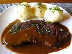 Köstritzer Schwarzbierbraten Rezept - New Site Roast Beef Recipes, Grilling Recipes, Best Pancake Recipe, Dinner Recipes, Food And Drink, Easy Meals, Healthy Recipes, Cooking, Food Food