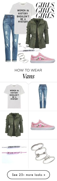 """Untitled #1143"" by chelebell on Polyvore featuring KUT from the Kloth, Être Cécile, Vans, Myia Bonner, Topshop, womensHistoryMonth, pressforprogress and GirlPride"