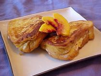 Strawberry Peach Stuffed French Toast