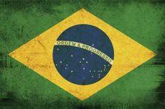 Bandeira do Brasil no estilo Vintage e Grunge.
