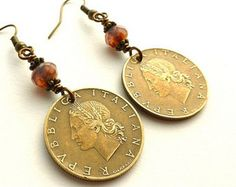 Coin Upcycled Earrings