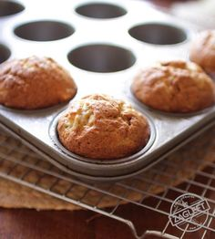 Small Batch Banana Muffins, the perfect amount if you're cooking for one or two. These tender, sweet muffins are perfect for breakfast, snacking or dessert.