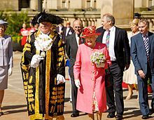 The Queen visiting Birmingham in July 2012 as part of her Diamond Jubilee tour