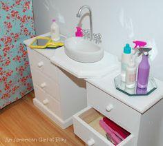 An American Girl at Play: Bathroom