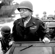 - Brig. Gen. Benjamin O. Davis, Sr., the first African-American general in the U.S. Army, watches a Signal Corps crew erecting poles, somewhere in France. August 8, 1944. His son, Benjamin O. Davis, Jr., graduated from West Point and commanded the Tuskegee Airmen