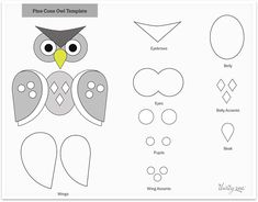 Pinecone owl craft template - Thirty-One Gifts Christmas Crafts To Sell Make Money, Halloween Crafts For Kids, Christmas Ornaments To Make, Gato Origami, Pinecone Owls, Owl Templates, Owl Crafts, Easy Crafts, Owl Ornament