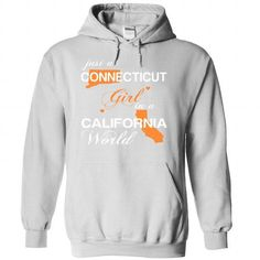 Just A Connecticut Girl In A California World T Shirts, Hoodie. Shopping Online Now ==► https://www.sunfrog.com/Valentines/-28CTJustCam002-29-Just-A-Connecticut-Girl-In-A-California-World-White-Hoodie.html?41382
