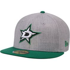Dallas Stars New Era Fashion 59FIFTY Fitted Hat - Heathered Gray/Kelly Green - $34.99