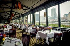 A delicious meal and a delightful view await at these nine riverfront restaurants in Pittsburgh. Pittsburgh Restaurants, Visit Pittsburgh, Pittsburgh Skyline, Pittsburgh Food, Pittsburgh Pirates, New York Vacation, Vacation Trips, Vacation Spots, Vacations