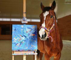Metro the Painting Racehorse...profits help racehorses who no longer race.