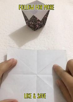 Fun Crafts To Do, Diy Crafts For Gifts, Paper Crafts For Kids, Craft Stick Crafts, Hobbies And Crafts, Craft Ideas, Easy Crafts, Instruções Origami, Paper Crafts Origami