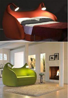 wohnideen bettsessel schlafsessel kreative ideen beleuchtung