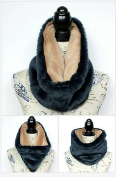 Faux Fur Scarf Gift for Mom Womens Clothing Chunky Fur Cowl Gift for her Faux fur Scarf Gift for Wife Winter  Christmas Gifts Celebrations