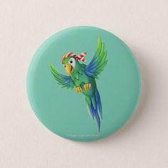 Jingle Jingle Little Gnome Pirate Parrot Button