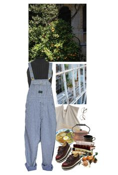 """""""satsuma"""" by paper-freckles ❤ liked on Polyvore featuring Etiquette, Jaune de Chrome, WearAll and Melissa"""