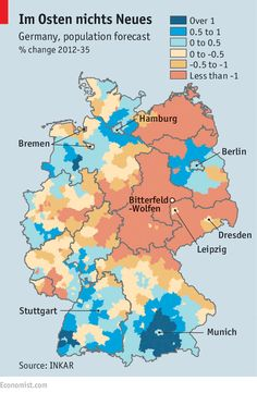 Fading echoes: East Germany's population is shrinking | The Economist
