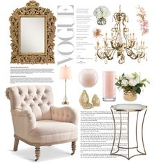 Accent Chair by christina-01 on Polyvore featuring interior, interiors, interior design, дом, home decor, interior decorating, MANGO, Kate Spade and Diane James