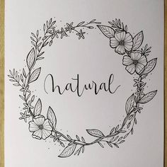 Ideas flowers wreath drawing illustration for 2019 Illustration Blume, Wreath Drawing, Jet Pens, Motif Floral, Hand Embroidery Designs, Embroidery Leaf, Bullet Journal Inspiration, Doodle Art, Coloring Pages