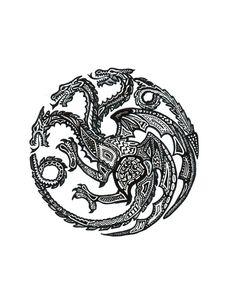 Stylized House Targaryen Sigil
