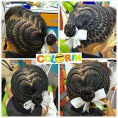 4 Corazones en #trenza #trenzas #braids #braid #girls #girl #hair #tresses #treccia