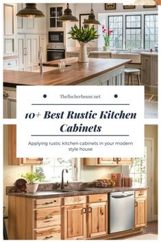 462 best rustic kitchen cabinets images in 2019 decorating kitchen rh pinterest com