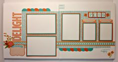 pin 3 of 4... (pages 5 & 6)... 8-page Layout Workshop by Pam Thorn using CTMH Blossom paper