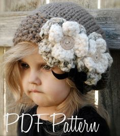 Knitting PATTERN-The Babette Slouchy Toddler di Thevelvetacorn