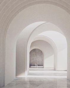 White Hall White Arches All White Spaces is part of Geometric architecture - Minimal Architecture, Interior Architecture, Architecture Geometric, Exterior Design, Interior And Exterior, Arch Interior, Art Deco Design, Design Design, Interior Inspiration