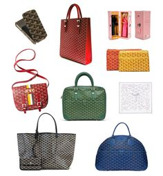 Would love they bottom left GOYARD bag as a diaper bag!!