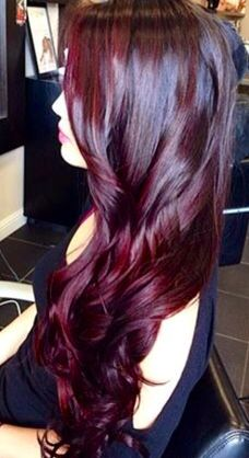 Cherry coke color. Would love to color my hair this color if red wasn't so hard to keep red.